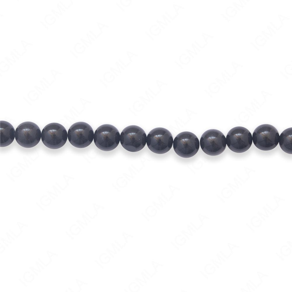 16″ 6mm Black Jasper Natural Round Beads