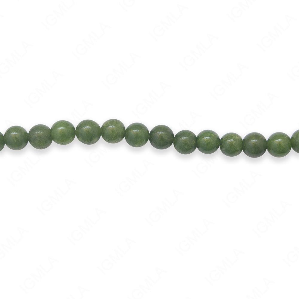16″ 6mm Green Jade Dyed Round Beads