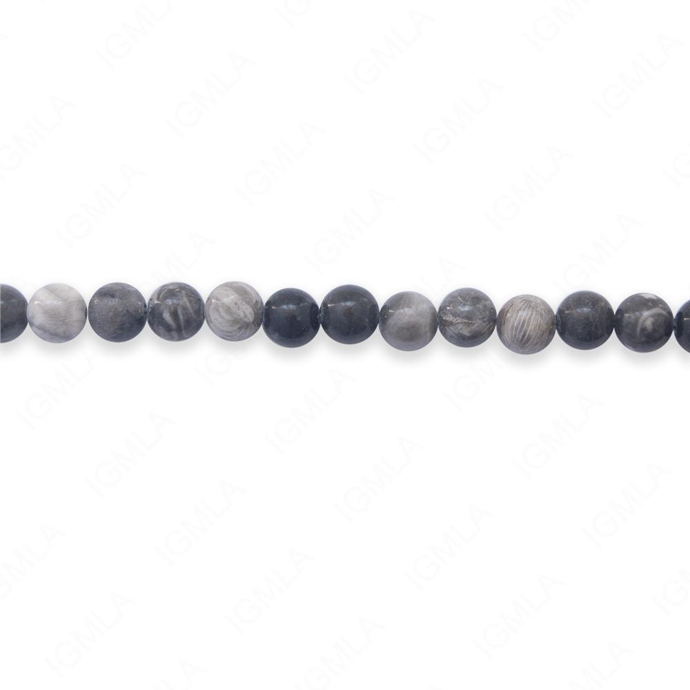 16″ 6mm Bull Eye Jasper Natural Round Beads
