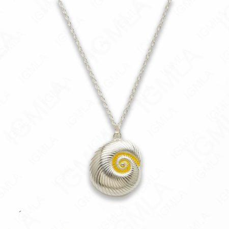 Zinc Alloy Silver Plated Shell Necklace