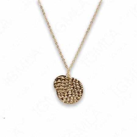 Zinc Alloy Gold Plated Round Necklace