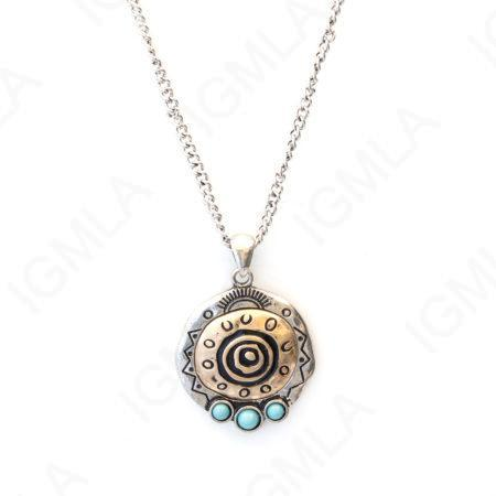 Zinc Alloy Gold, Silver Plated Round Necklace