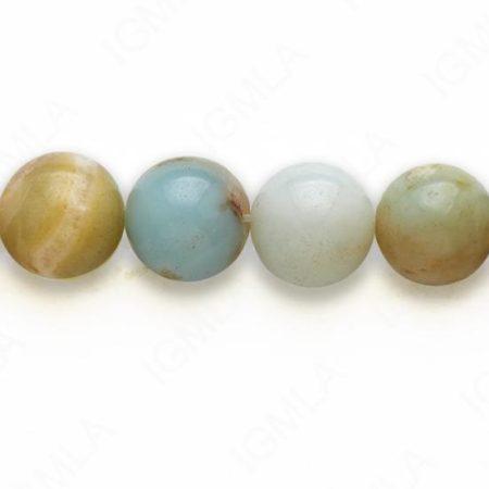 "16"" 10 M.M. Multi Amazonite Round Beads"