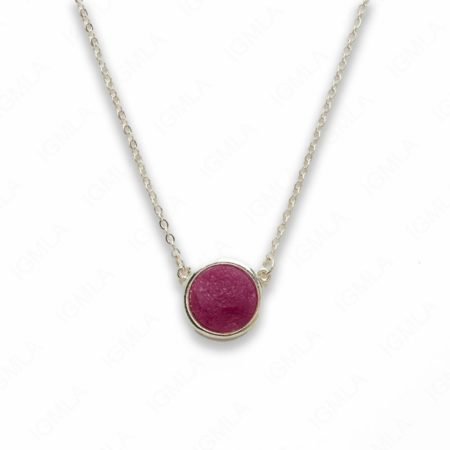 Zinc Alloy Purple Druzy Silver Plated Round Necklace