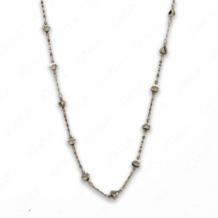 Zinc Alloy Rhodium Plated Heart Necklace