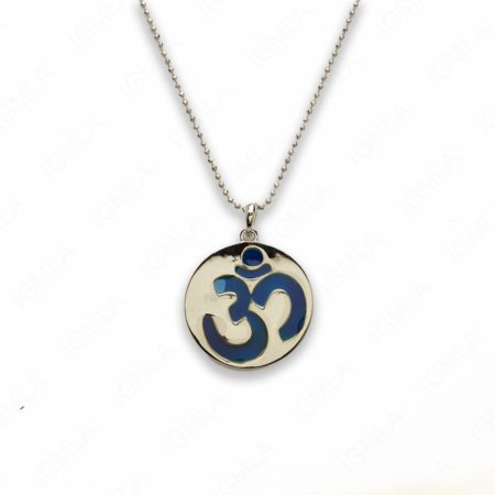 Zinc Alloy Mood Silver Plated Round Necklace