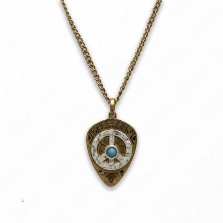 Zinc Alloy Peace W Gold Plating Arrowhead Necklace