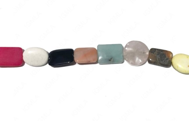 15-16″ Mix Multi Stone Mix Shapes Plain Beads