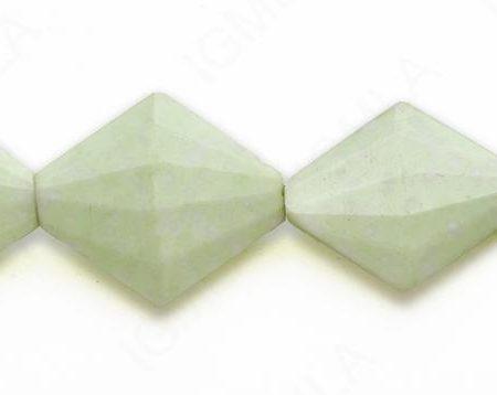 15-16″ 28X32X9mm Lemon Chrysophrase Diamond Faceted Beads