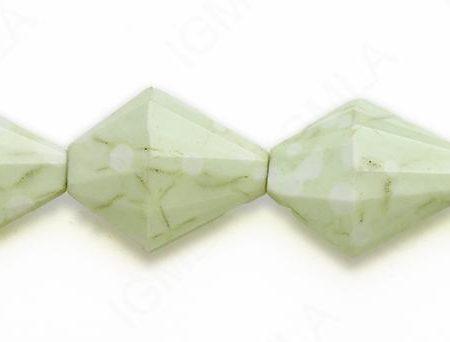 15-16″ 24X30X12mm Lemon Chrysophrase Diamond Faceted Beads