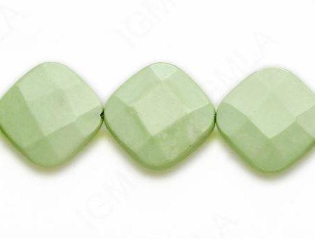 15-16″ 22mm Lemon Chrysophrase Diamond Faceted Beads