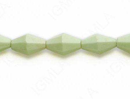 15-16″ 10X15mm Lemon Chrysophrase Double Cone Faceted Beads