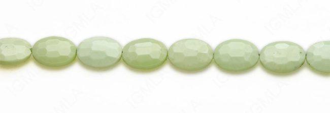 15-16″ 13X18mm Lemon Chrysophrase Oval Faceted Beads