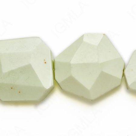 15-16″ 35X40M Lemon Chrysophrase Slab Faceted Beads