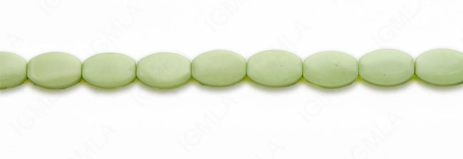 15-16″ 10X15mm Lemon Chrysophrase Flat Oval Plain Beads