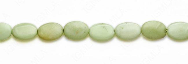 15-16″ 13X18mm Lemon Chrysophrase Oval Plain Beads