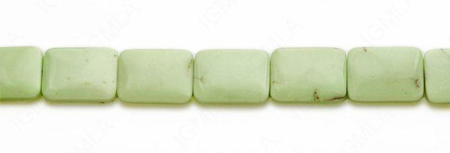 15-16″ 10X25mm Lemon Chrysophrase Rectangle Plain Beads