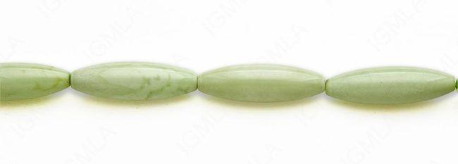 15-16″ 12X40mm Lemon Chrysophrase Rice Plain Beads