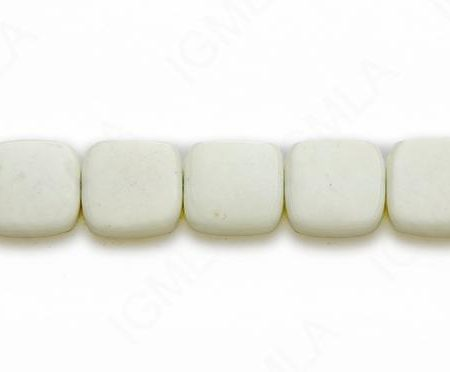 15-16″ 12mm Lemon Chrysophrase Square Plain Beads