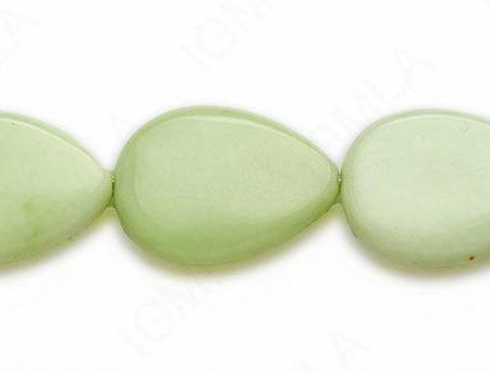 15-16″ 22X30mm Lemon Chrysophrase Pear Plain Beads