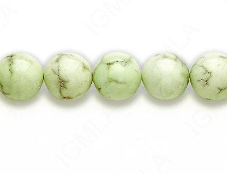 15-16″ 16mm Lemon Chrysophrase Round Plain Beads