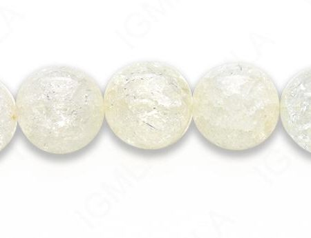 15-16″ 16mm Cracked Crystal Asstd Colors Round Plain Beads