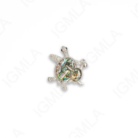 Zinc Alloy With Abalone Rhodium Plated Turtle Developed Pendants