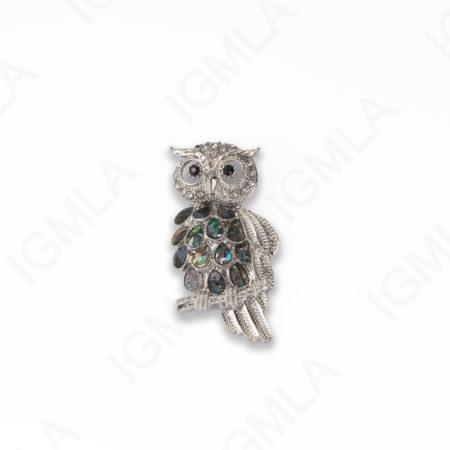 Zinc Alloy With Abalone Abalone Silver Plated Owl Pendants
