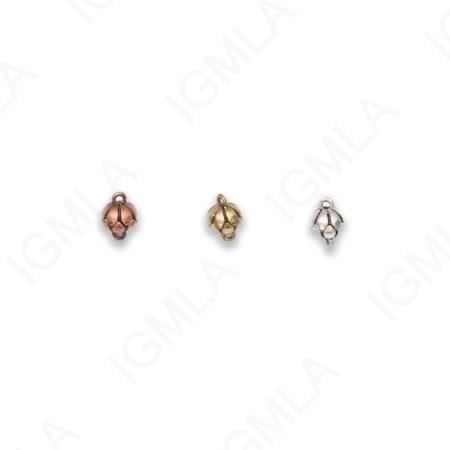 Zinc Alloy Silver, Gold, Copper Burnished Round Connector