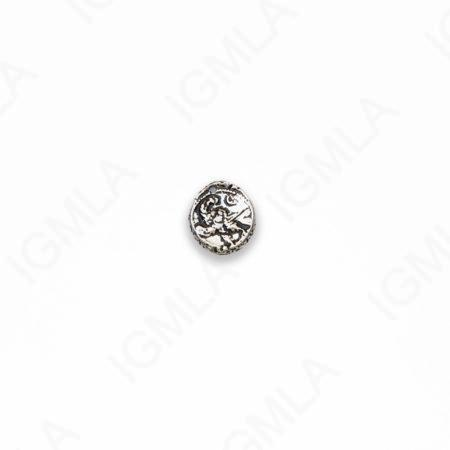 Zinc Alloy Antique Silver Coin Charm