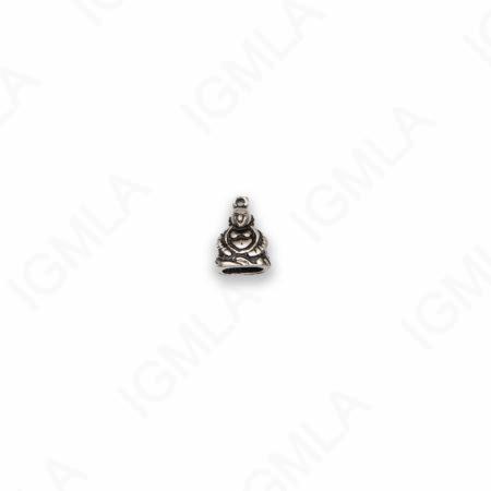 Small Zinc Alloy Antique Silver Buddha Charm