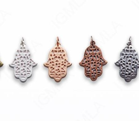 Small Zinc Alloy Matt Rose, Gold, Silver, Gold Plated, Burnish Gold, Silver, Copper Lucky Hand Charm