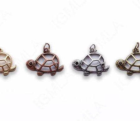 Small Zinc Alloy Matt Rose, Gold, Silver, Gold Plated, Burnish Gold, Silver, Copper Turtle Charm