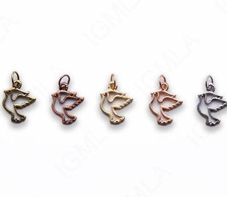 Small Zinc Alloy Matt Rose, Gold, Silver, Gold Plated, Burnish Gold, Silver, Copper Bird Charm