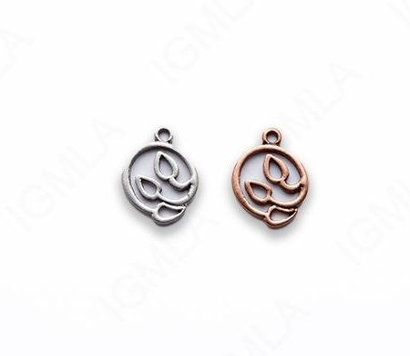 Zinc Alloy Burnish Copper, Silver Charm