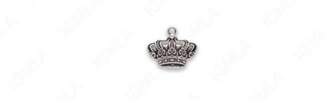 Zinc Alloy Crown Pendants