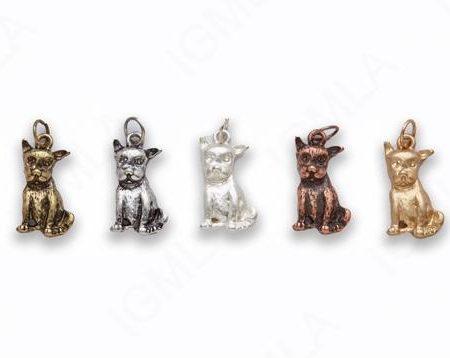 Small Zinc Alloy Matt Rose Gold, Silver, Gold, Burnish Silver, Gold, Copper Dog Charm