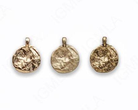 Zinc Alloy Matt Ant Gold, Burnish Gold, Shinny Gold Coin charm