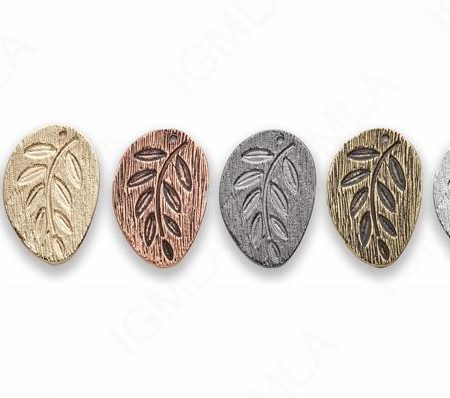 Large Zinc Alloy Leaf Gold, Silver, Rhodium, Copper Plated, Burnish Gold, Silver, Copper, Gun Metal Free Form Pendants