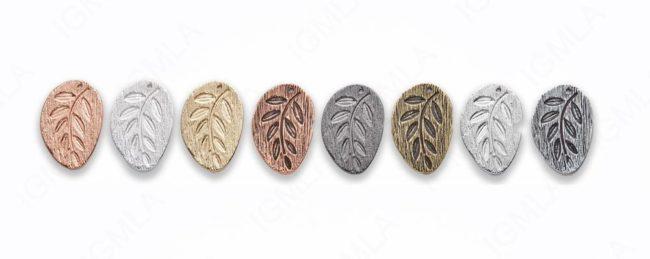 Large Zinc Alloy Leaf Gold, Silver, Rhodium, Copper Plated, Burnish Gold, Silver, Copper, Gun Metal Free Form Pendants