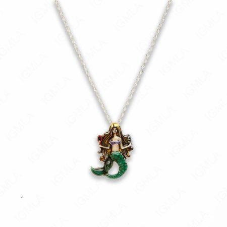 18″ Zinc Alloy Multi Mermaid Necklace