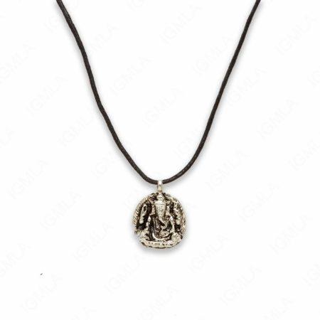 18″ Zinc Alloy Silver Tone Kwan Necklace
