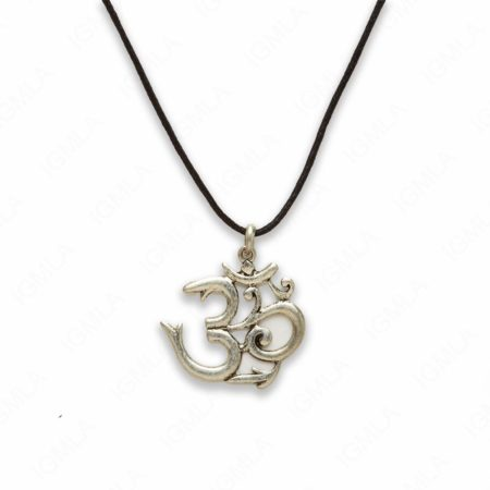 18″ Zinc Alloy Burnish Silver Tone Symbol Symbol Necklace