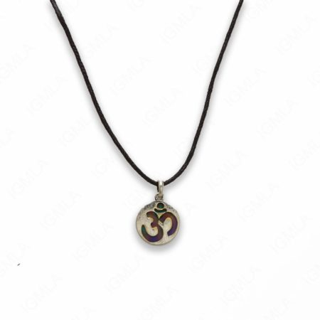 18″ Zinc Alloy with Mood Stone Burnish Gold Tone Coin Necklace