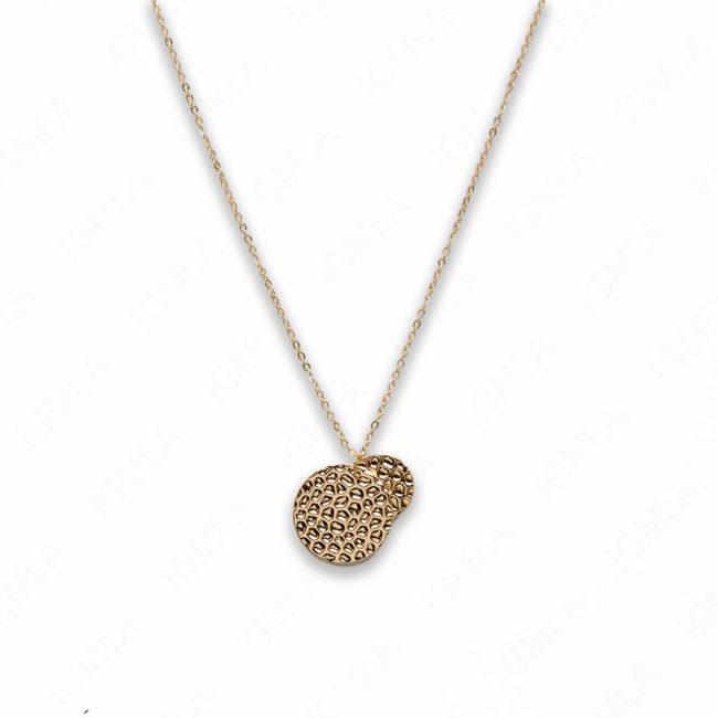 18″ Zinc Alloy Gold Tone Coin Necklace
