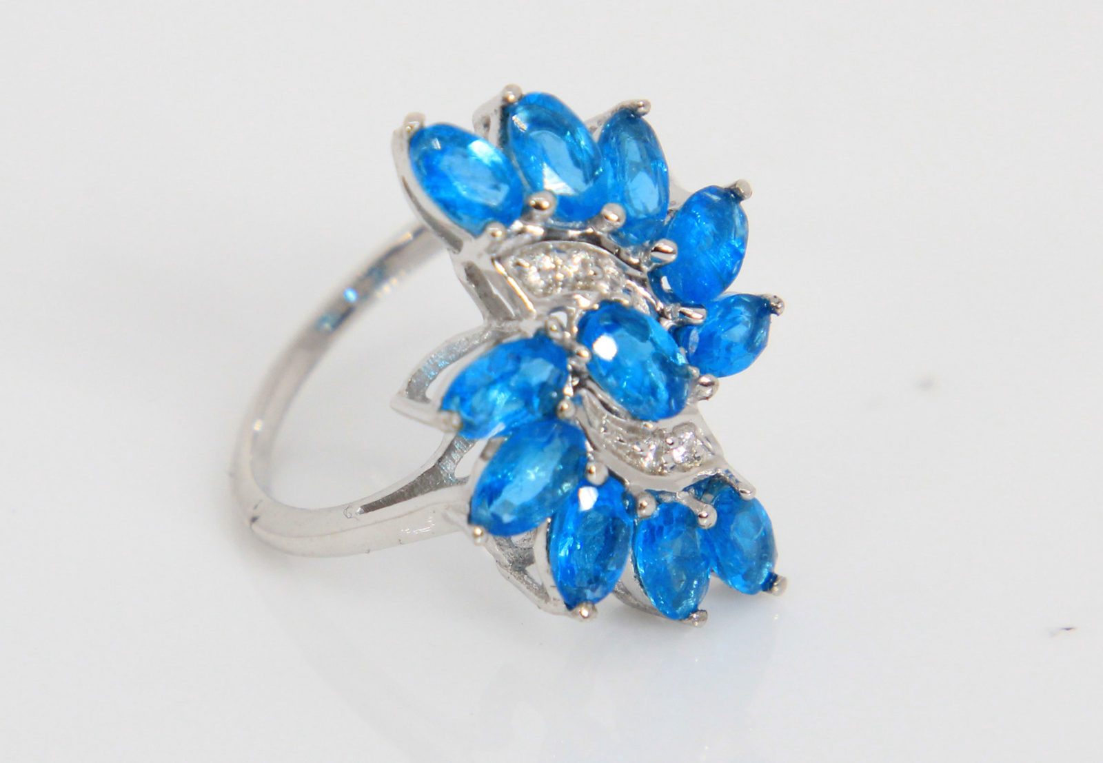 Details about  /Neon Apatite Round Shape Gemstone 925 Sterling Silver Rose Color Ring
